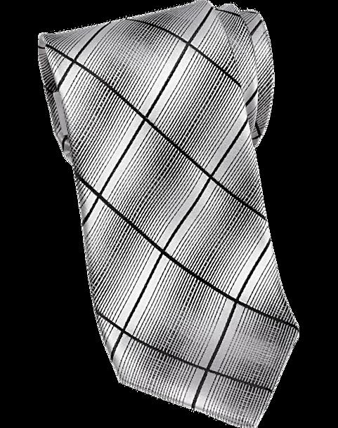 3288c4ab1a19 Pronto Uomo Black & Gray Plaid Narrow Tie - Men's Regular Length ...