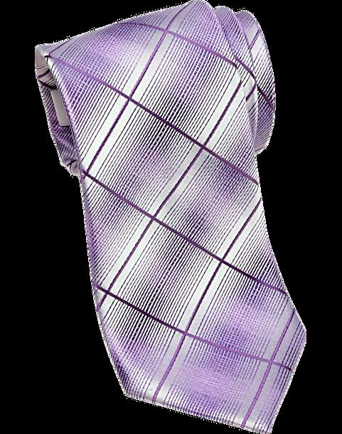 3f324d29f9a8 Pronto Uomo Purple Plaid Narrow Tie - Men's Narrow (3 to 3 1/4 ...