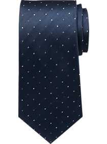 631c01d3d970 Mens Ties, Accessories - Calvin Klein Pink on Navy Dot Narrow Tie - Men's  Wearhouse