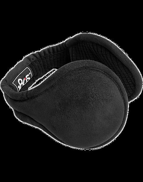 180S Tuckerman Black Ear Warmers - Mens 180s, Brands - Men's Wearhouse