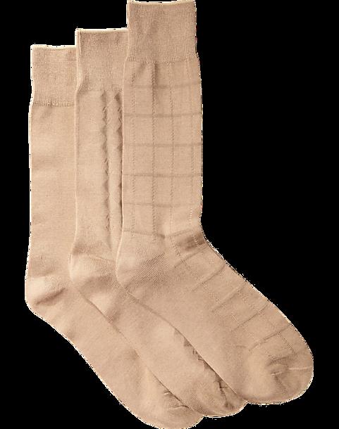 c77943194feb4 Pronto Uomo Khaki Rayon from Bamboo Socks (Three-Pack) - Mens Accessories,