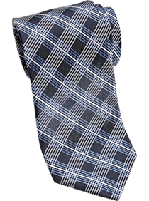 5dfa1c14d Mens Home - Joseph Abboud Blue Plaid Narrow Tie - Men s Wearhouse