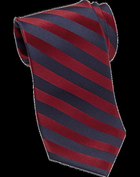 cfce21e04 Tommy Hilfiger Red   Navy Stripe Narrow Tie - Men s Accessories ...