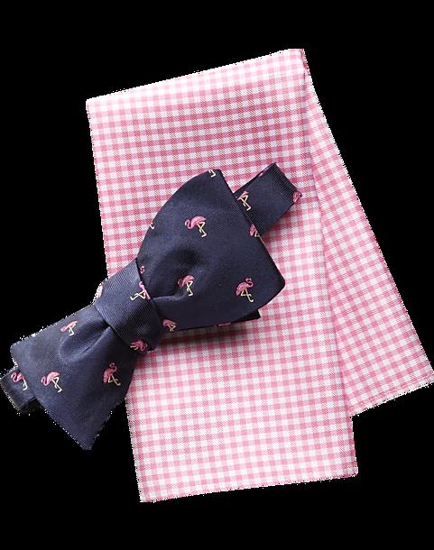 e1b5424abbcc Tommy Hilfiger Blue Flamingo Bow Tie and Pocket Square Set - Men's ...