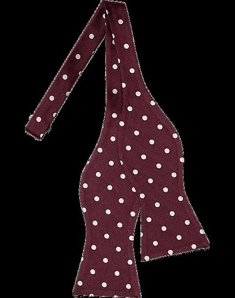 cdf149696d0 Tommy Hilfiger Burgundy Dot Self-Tie Bow Tie - Men s Accessories ...