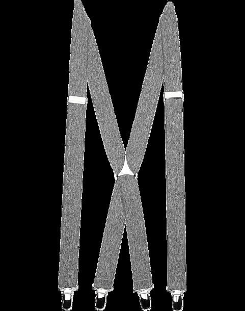 42f2d9ea25ee Egara Gray Clip Suspenders - Men's Accessories   Men's Wearhouse