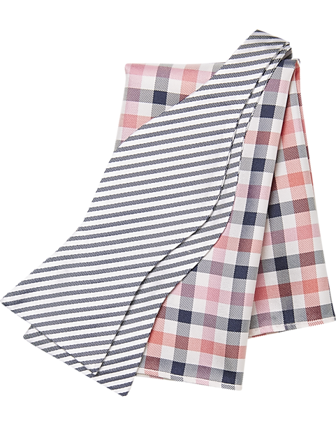 9b6cc648dea6 Tommy Hilfiger Navy Stripe with Pink check Bow Tie & Pocket Square Set -  Mens Home