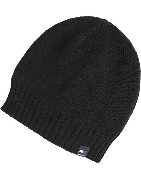 Tommy Hilfiger Black Knit Hat - Men s  042086ef3a2