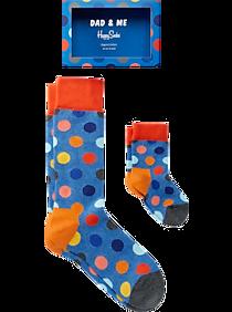 4fb73b8812c39 Mens Socks, Accessories - Happy Socks Dad & Me Blue Polka Dot Socks, 2