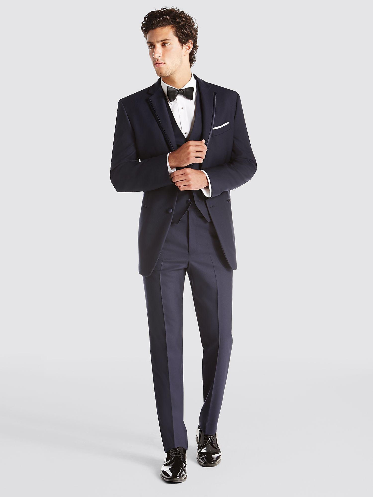 Black Tuxedo | BLACK by Vera Wang Tuxedo | Tuxedo Rental | Men's ...