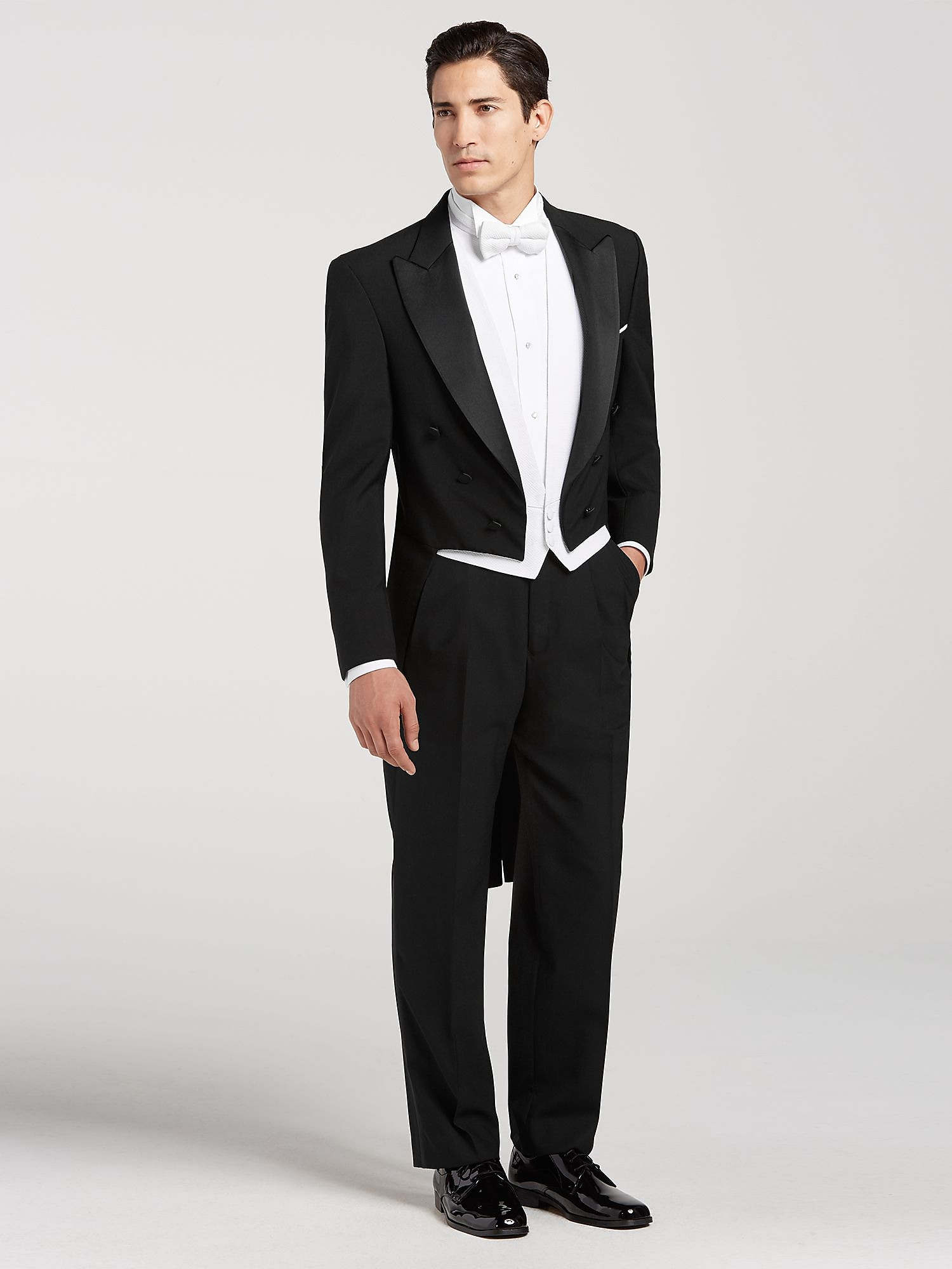Black full dress tail tux by joseph feiss tuxedo for Tuxedo house
