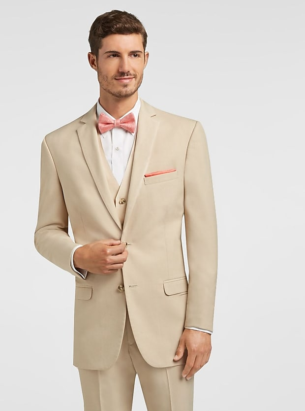 To Uomo Tan Notch Lapel Suit
