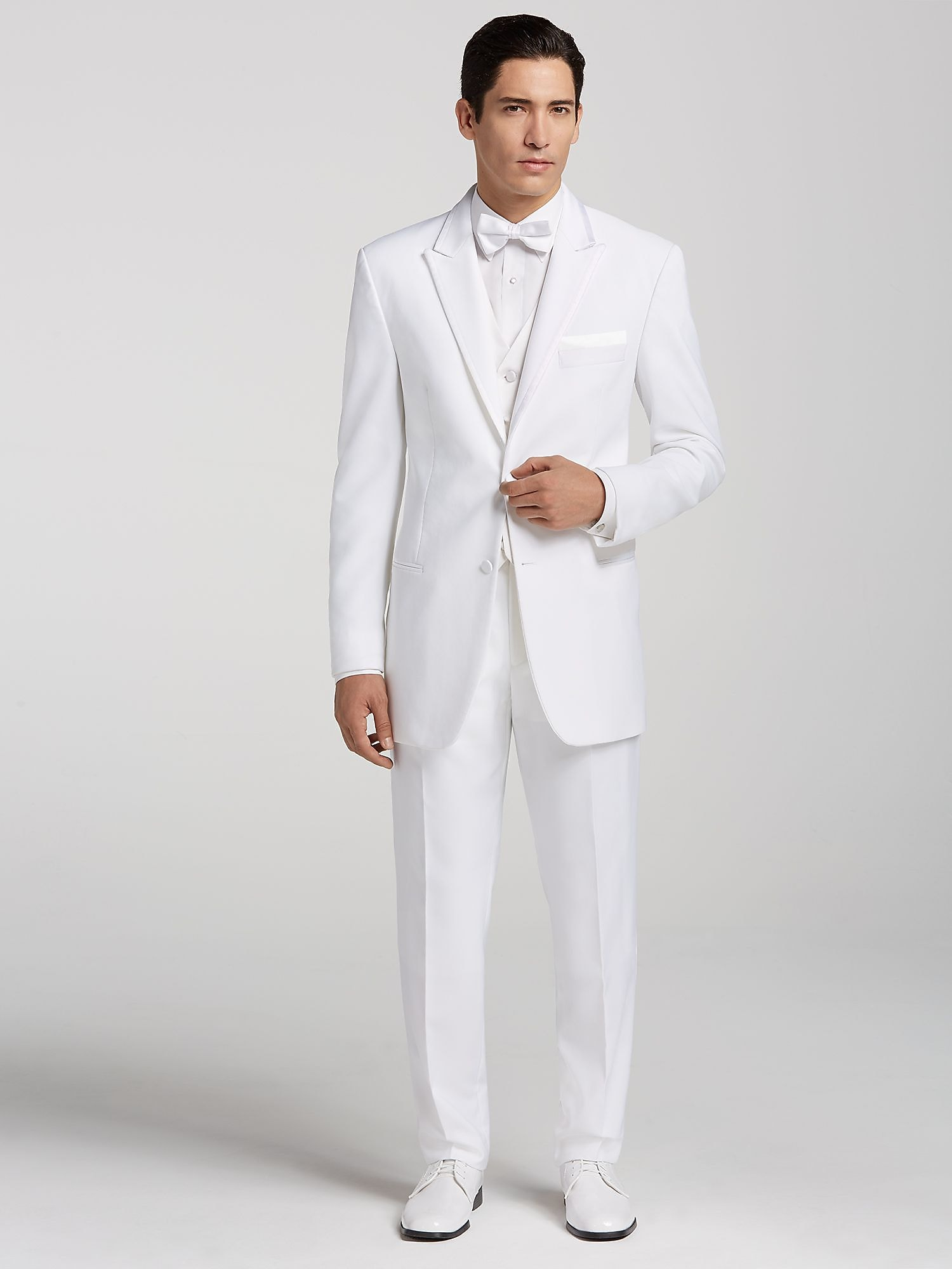 White Satin Edged Lapel Tux By Pronto Uomo