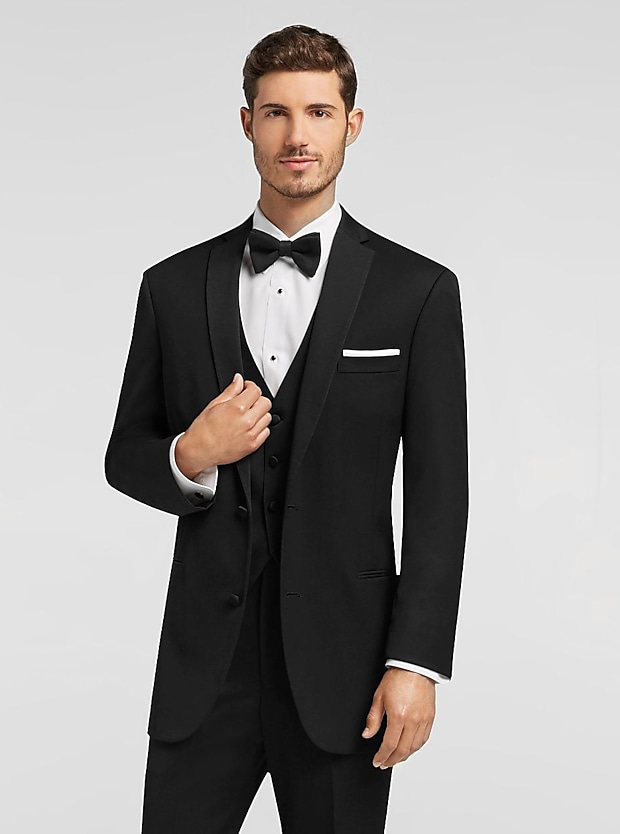 Black By Vera Wang Black Notch Lapel
