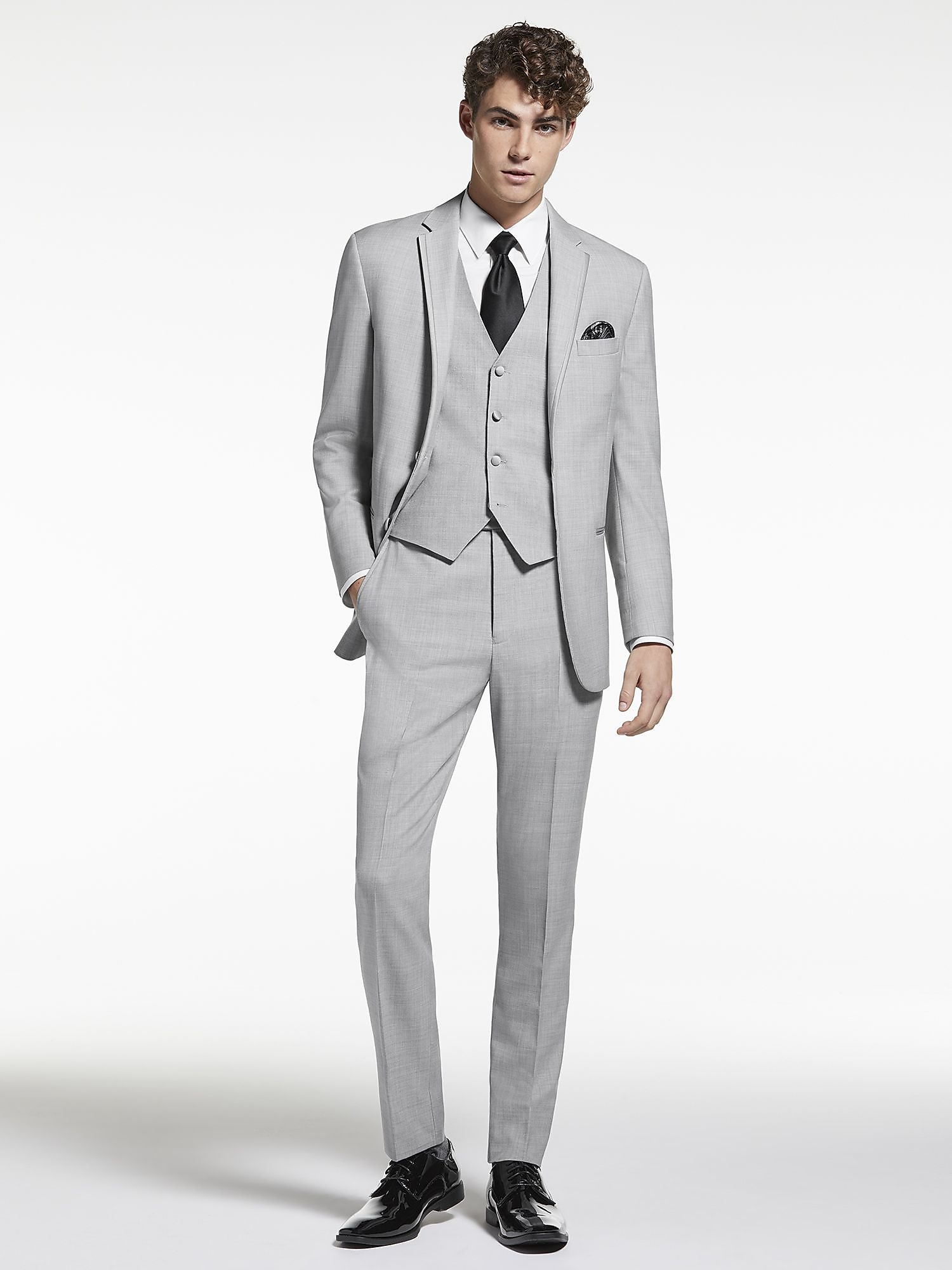 Light Gray Notch Lapel Tux by Joseph Abboud | Tuxedo Rental | Men\'s ...