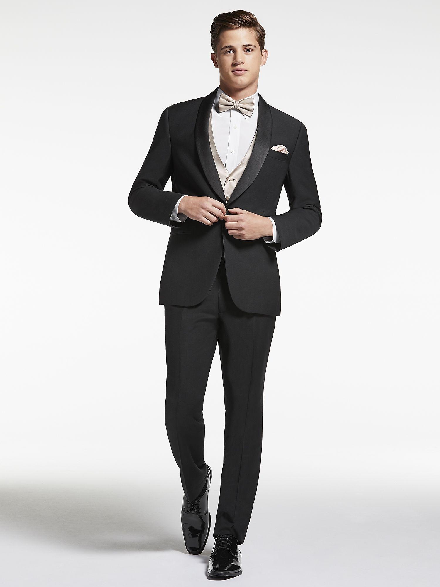 Black shawl lapel tuxedo by calvin klein tuxedo rental for The tuxedo house