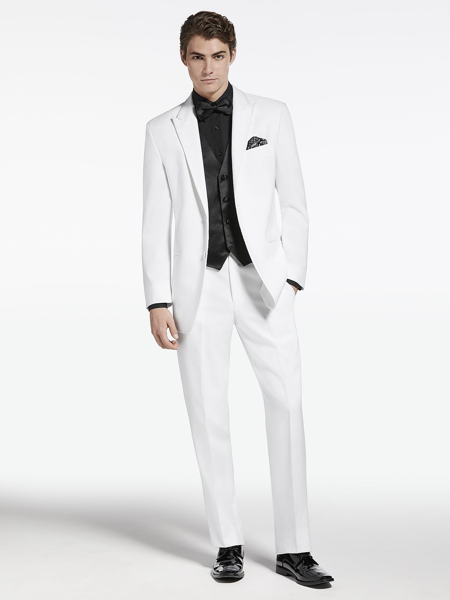 White Peak Lapel Tuxedo by Pronto Uomo | Tuxedo Rental | Men\'s Wearhouse