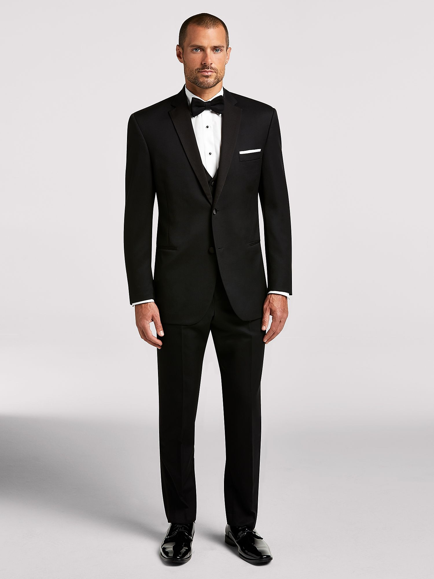 47806370b31 Black Notch Lapel Tux | Black by Vera Wang | Tuxedo Rental | Men's ...