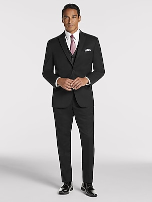 ca7237ce3cfeee Black Notch Lapel Tux | Black by Vera Wang | Tuxedo Rental | Men's ...