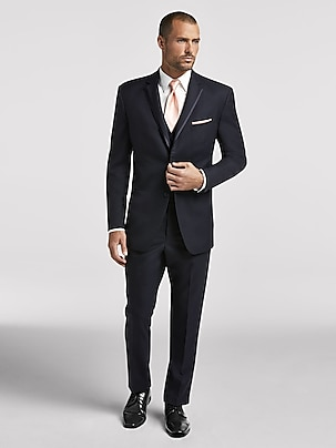 Black Notch Lapel Tux Black By Vera Wang Tuxedo Rental Men S