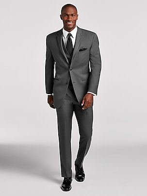 1c118f444a157b Black Notch Lapel Tux | Black by Vera Wang | Tuxedo Rental | Men's ...