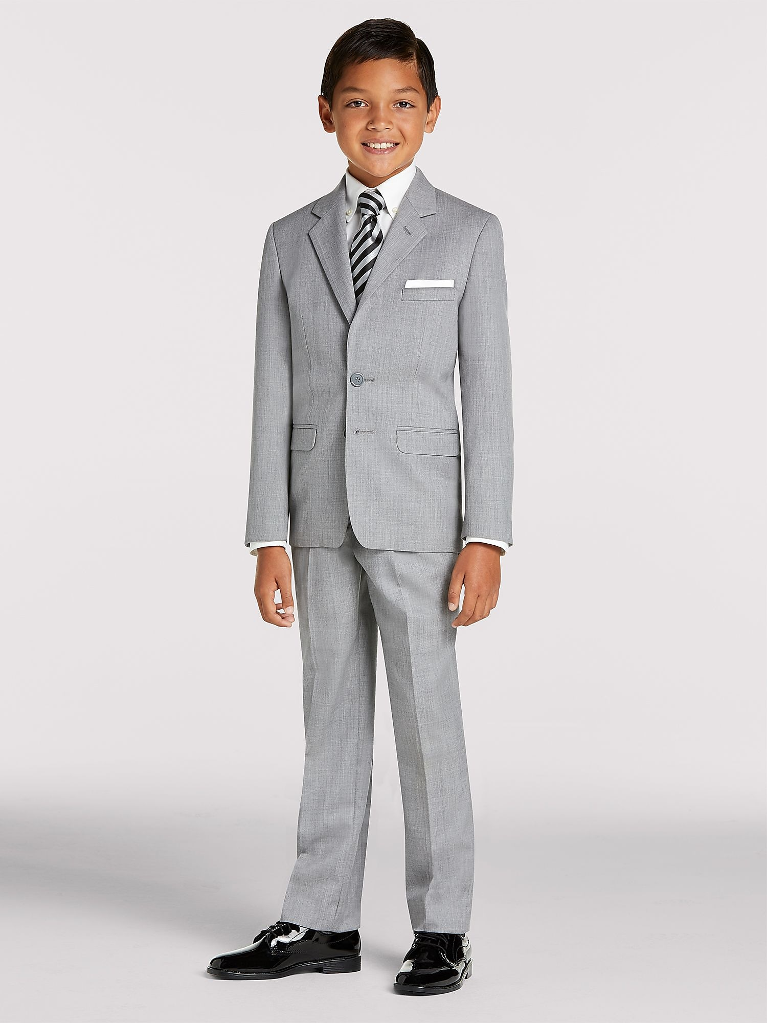 54b28b8fc Here's what's included in your package: Joseph & Feiss Boy's Gray Suit ...